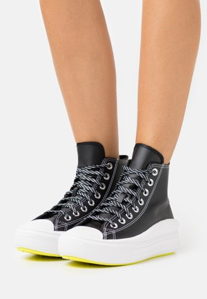CHUCK TAYLOR MOVE PLATFORM - Baskets montantes - black/lemon/white