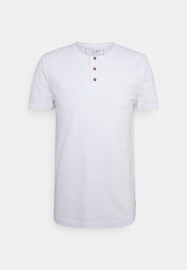 HENLEY - T-shirt basic - white