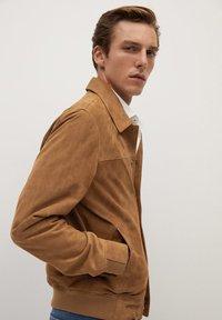 Mango - BONE-I - Leather jacket - beige - 4