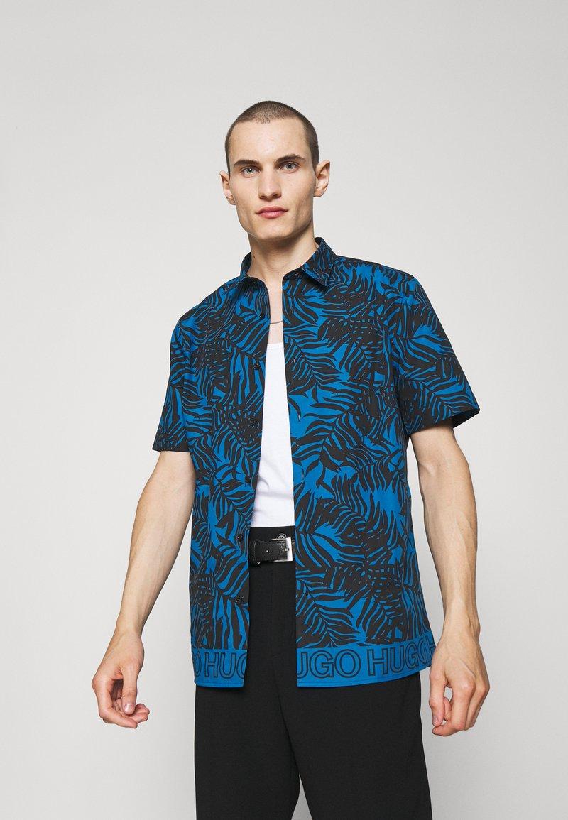 HUGO - EBOR - Vapaa-ajan kauluspaita - bright blue