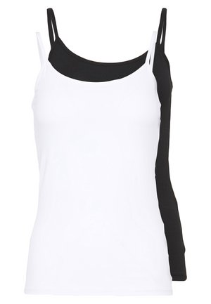ONLLOVE SINGLET 2PACK - Top - black/white
