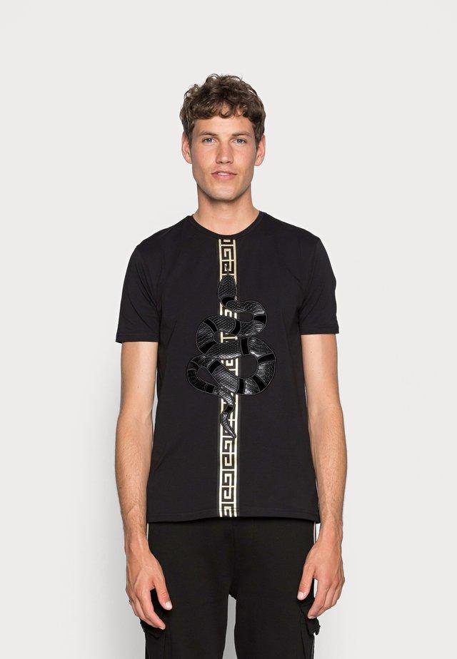 DEVANEY - T-shirt imprimé - black