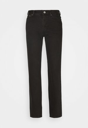 TWIN TROUSERS - Straight leg jeans - almost black