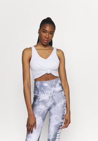 Cotton On Body - DOUBLE TROUBLE TANK - Top - grey marle - 1