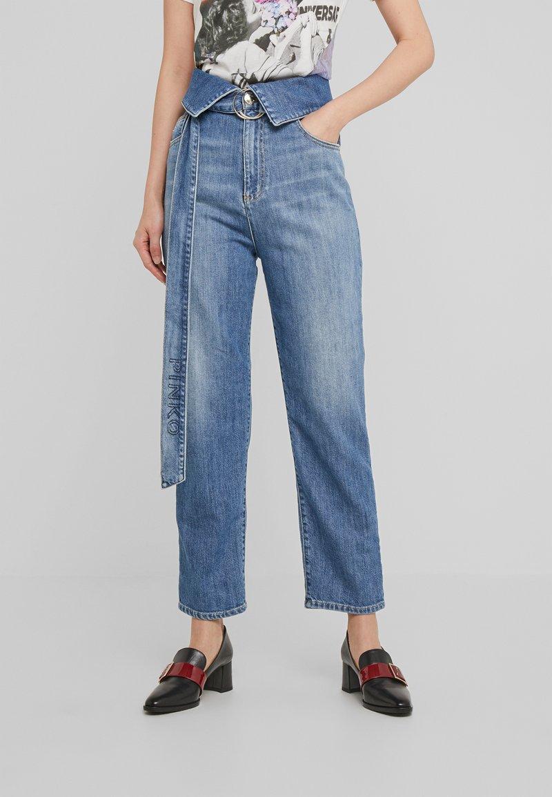 Pinko - TARAH SUPER HIGH RISE  - Straight leg jeans - blu indaco