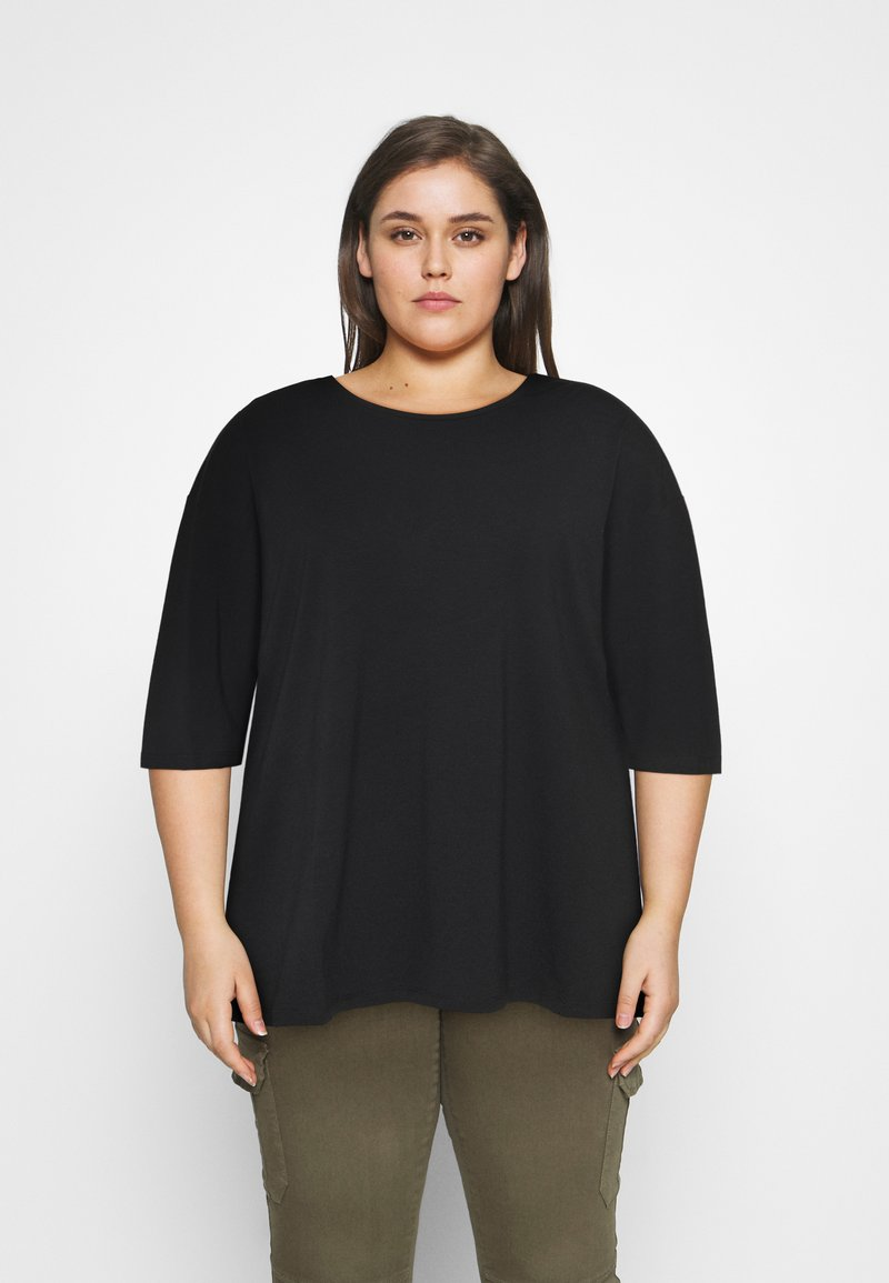 Noisy May Curve - NMHAILEY - Basic T-shirt - black