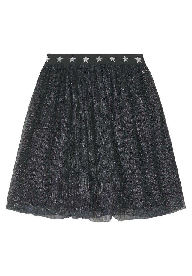 RÖCKE PLISSIERTER LUREX TÜLLROCK - A-line skirt - grey