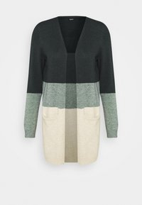 ONLQUEEN LONG  - Cardigan - june bug/balsam green mel/oatmeal m