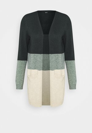 ONLQUEEN LONG  - Strikjakke /Cardigans - june bug/balsam green mel/oatmeal m