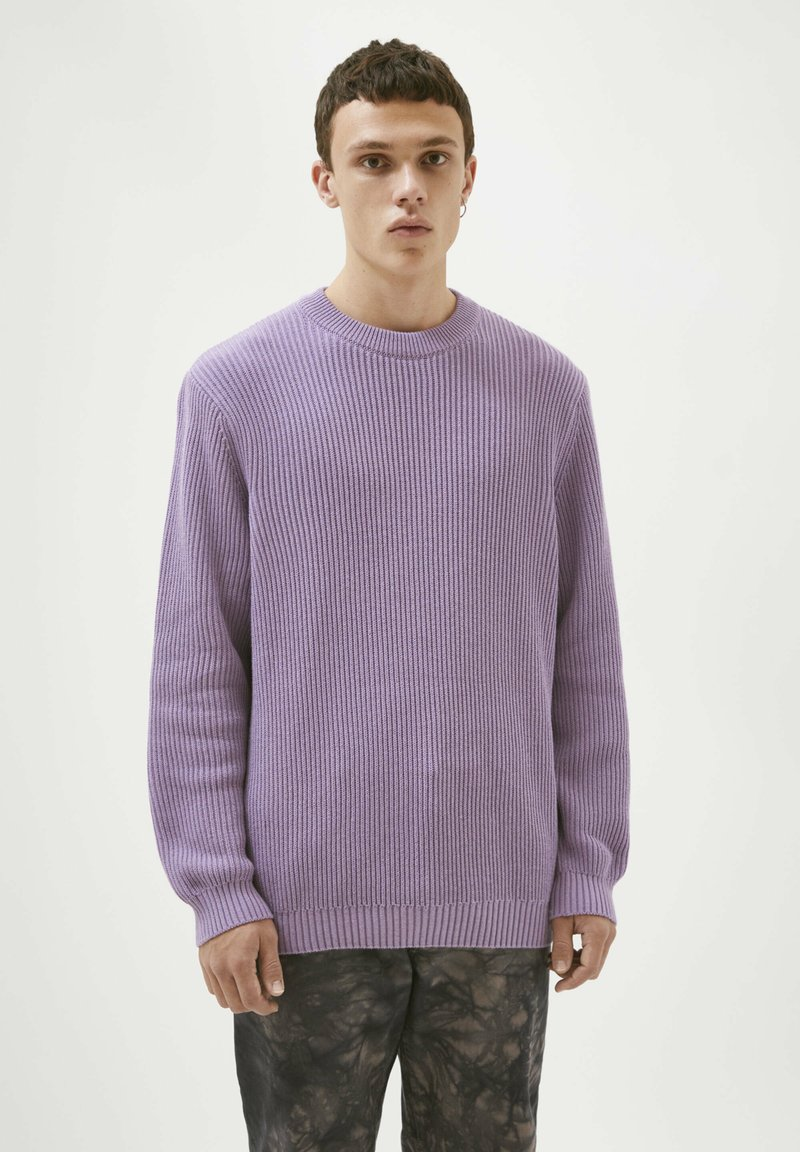 PULL&BEAR - Jumper - mottled purple