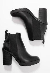 ONLY SHOES - ONLBOO LOOP - Ankelboots med høye hæler - black - 3