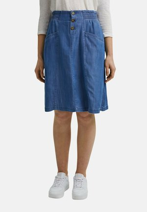 A-line skirt - blue medium washed
