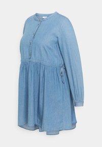 MLSTINA LIA WOVEN TUNIC - Bluse - light blue/chambray