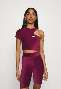 Ellesse - MARGIOT - Camiseta estampada - burgundy - 0