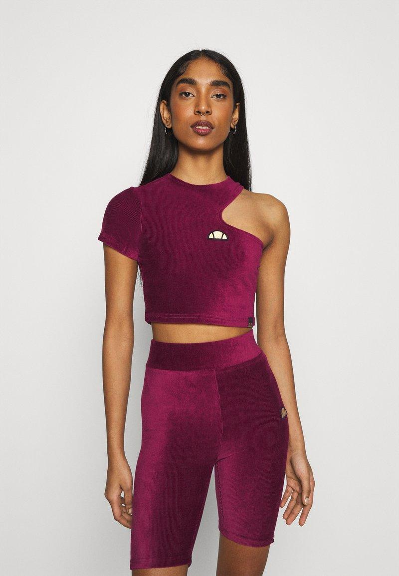 Ellesse - MARGIOT - Camiseta estampada - burgundy