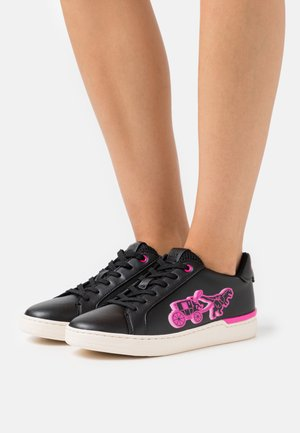 LOWLINE  - Trainers - black/pink/multicolor