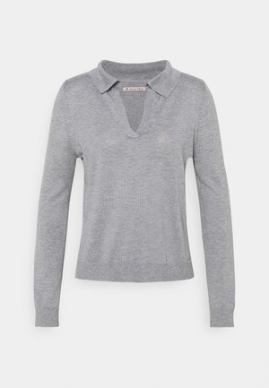 Strikkegenser - mottled grey