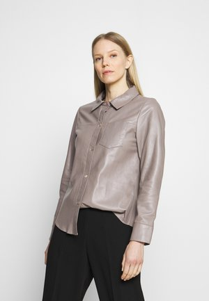 ANAE - Leather jacket - mastic