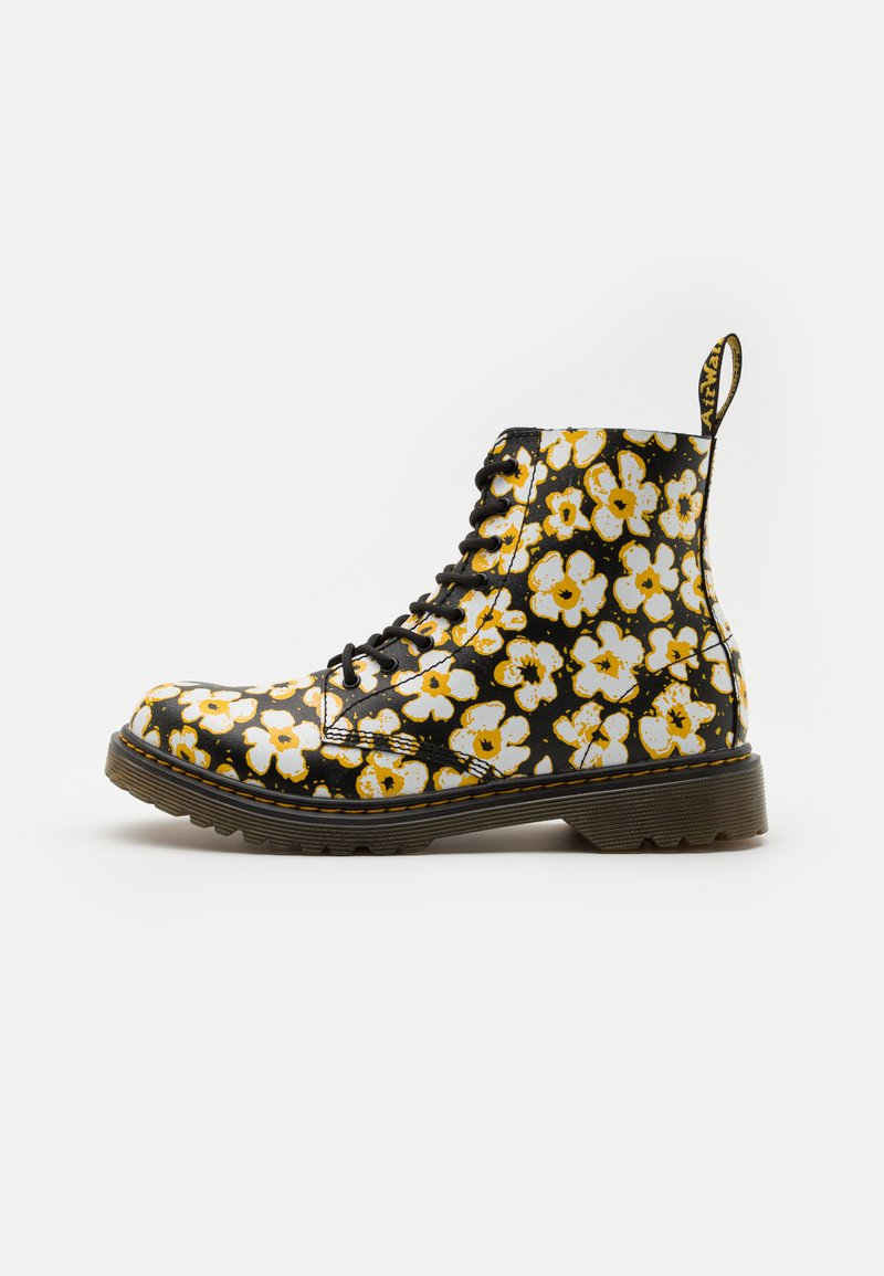 Dr. Martens - 1460 PASCAL - Lace-up ankle boots - black/yellow