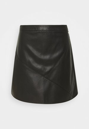 MINI SKIRT - Jupe trapèze - deep black