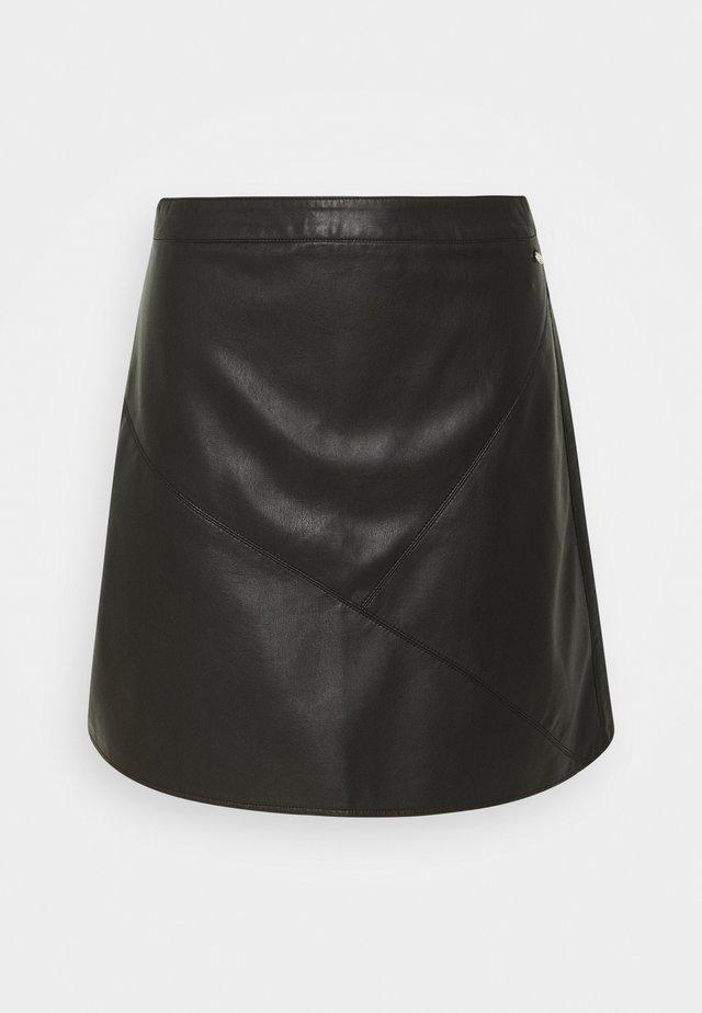 MINI SKIRT - A-line skirt - deep black