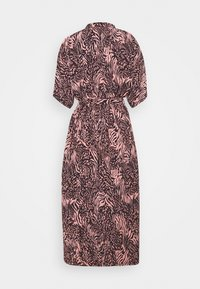 Colourful Rebel - ZEBRA BUTTON DOWN MIDI DRESS  - Day dress - pink - 1