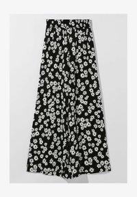 Bershka - Pantalon classique - black/white - 4