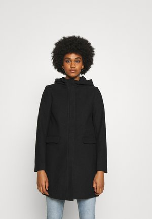 ONLOLIVIA HOODED COAT - Kåpe / frakk - black