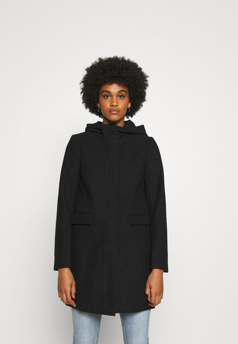 ONLY - ONLOLIVIA HOODED COAT - Classic coat - black