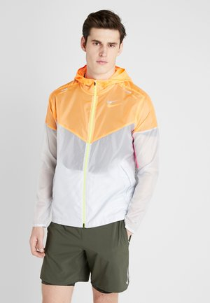 WINDRUNNER - Windbreaker - pure platinum/total orange/reflective silver