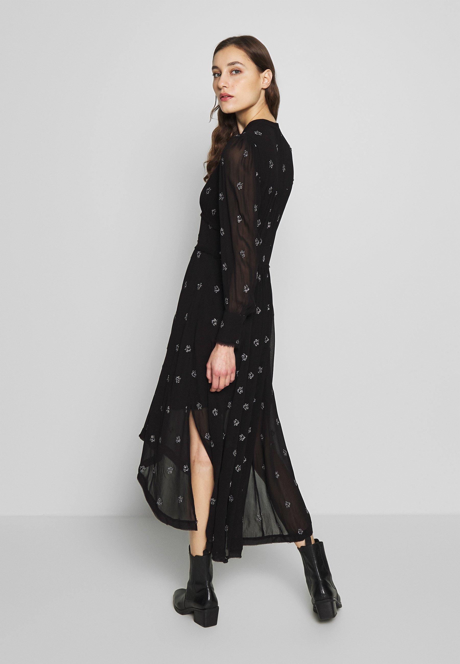 AllSaints LIZA CYLA DRESS Kjole black Zalando.no