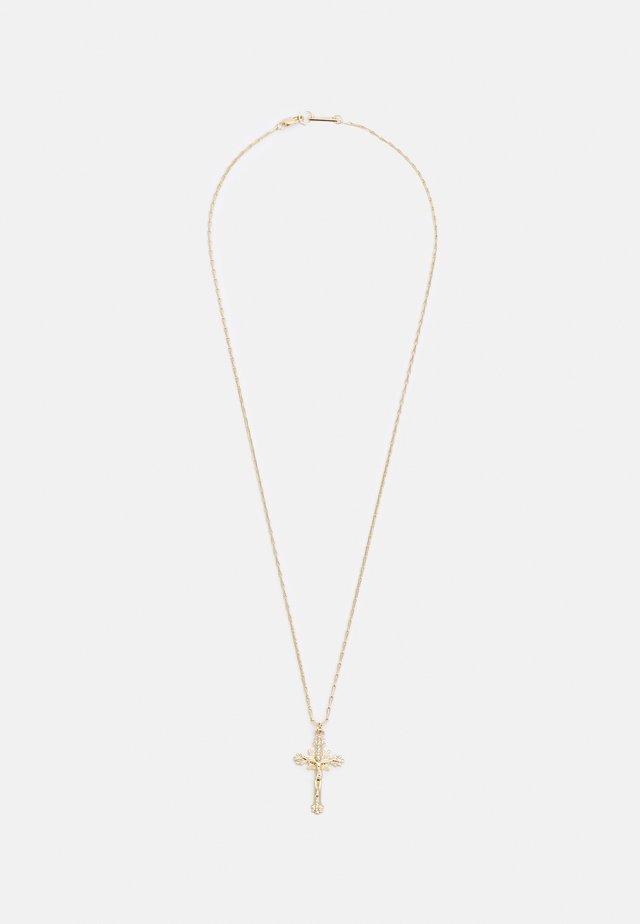 CROSS PENDNAT NECKLACE UNISEX - Collana - gold-coloured