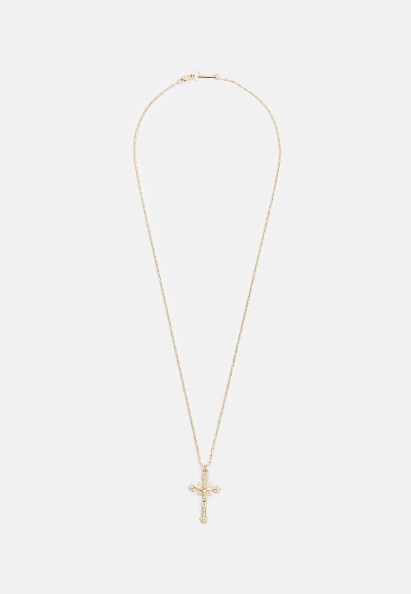 River Island - CROSS PENDNAT NECKLACE UNISEX - Necklace - gold-coloured