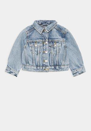MINI CROPPED JACKET - Denim jacket - mid blue