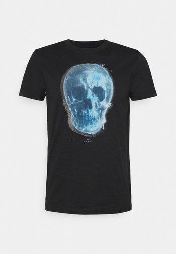 MENS SLIM FIT SKULL - Print T-shirt - black