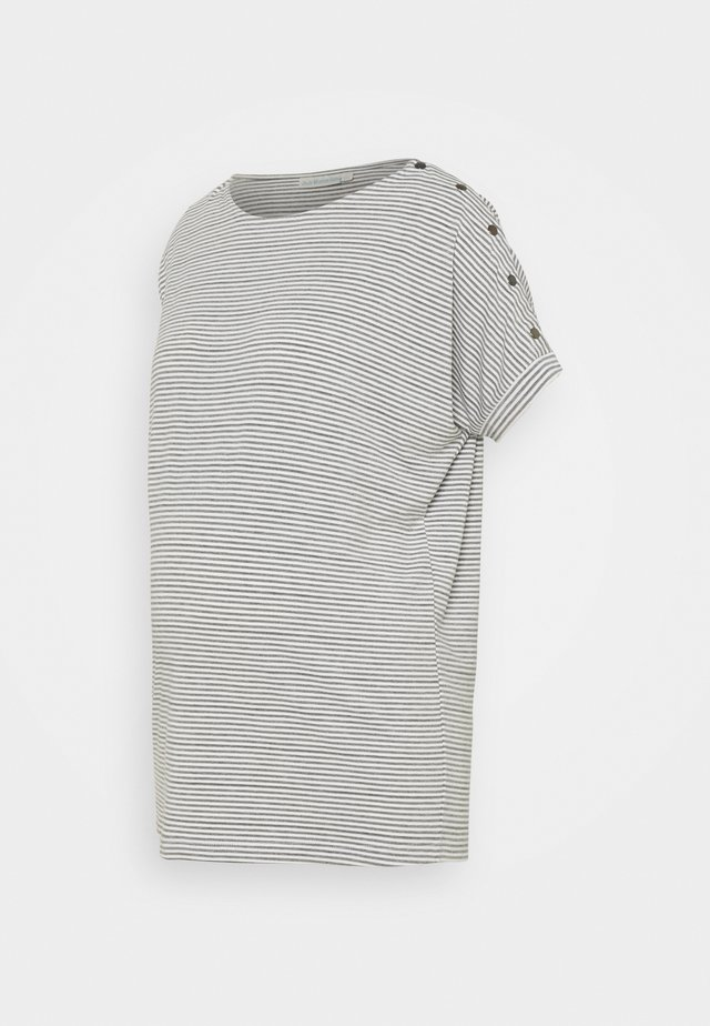DROP SHOULDER  - T-shirt med print - grey