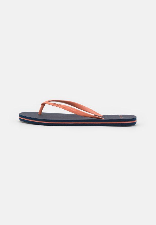 BONDI - T-bar sandals - navy/pink