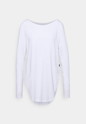 LONG SLEEVE TEARDROP TEE - Long sleeved top - white
