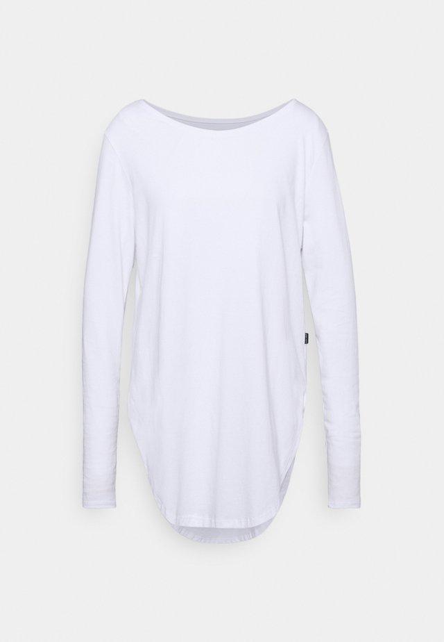 LONG SLEEVE TEARDROP TEE - Maglietta a manica lunga - white