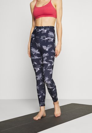 REVERSIBLE 7/8 - Leggings - navy