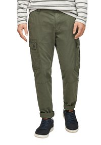 s.Oliver - Cargo trousers - olive - 0