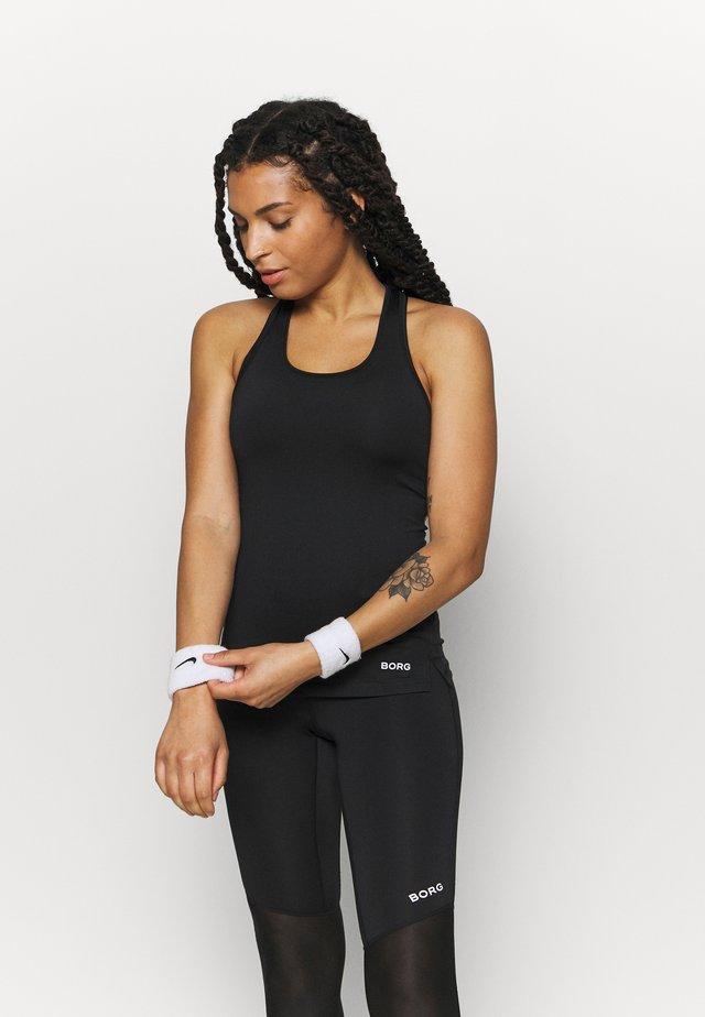 RACERBACK TANK - Sportshirt - black beauty