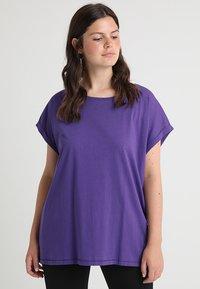 Urban Classics Curvy - LADIES EXTENDED SHOULDER TEE - Basic T-shirt - ultraviolet - 0