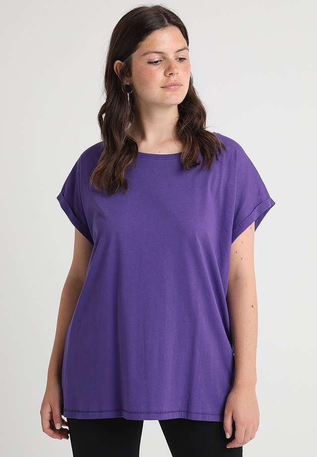 LADIES EXTENDED SHOULDER TEE - T-shirts - ultraviolet