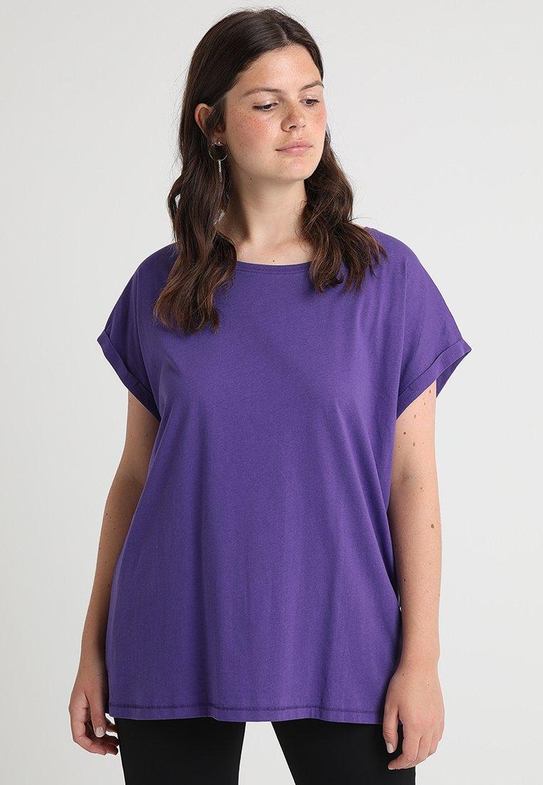 Urban Classics Curvy - LADIES EXTENDED SHOULDER TEE - Basic T-shirt - ultraviolet