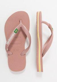 Havaianas - SLIM BRASIL LOGO - Pool shoes - crocus rose - 1