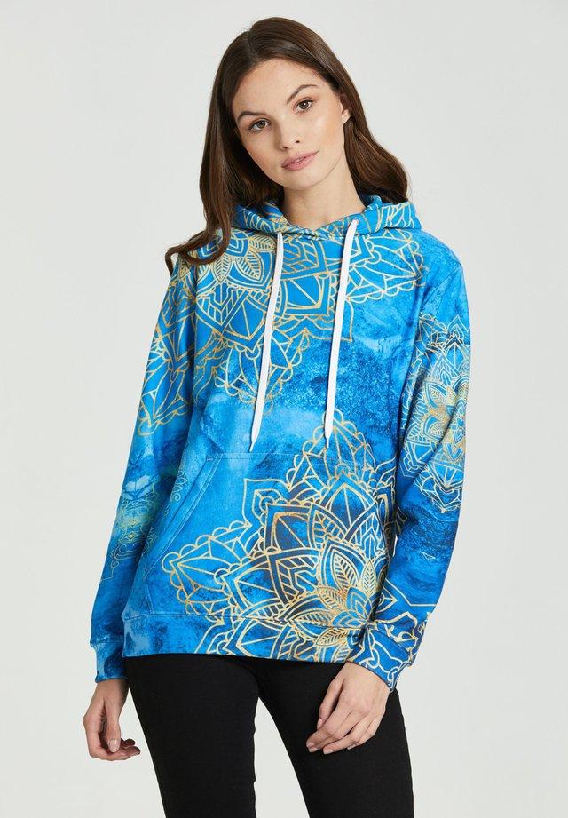 GOLD BOHO  - Bluza z kapturem - blue