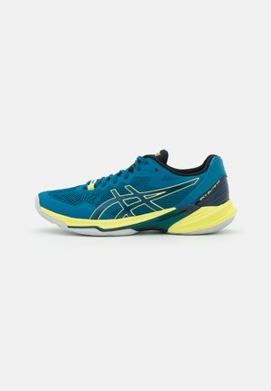 SKY ELITE 2 FF - Volleyball shoes - deep sea teal/glow yellow