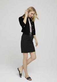 TOM TAILOR - Pencil skirt - deep black - 1