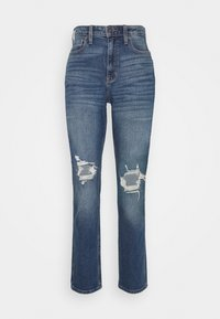 KNEEBO UHR MOM - Relaxed fit jeans - destroyed denim